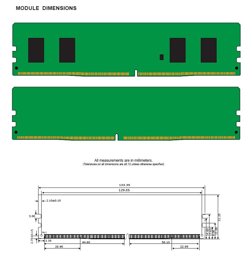 رم کامپیوتر کینگستون Kingeston KVR 4G-2400MHz