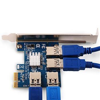 تبدیل 4 پورت PCIEX1 TO USB3